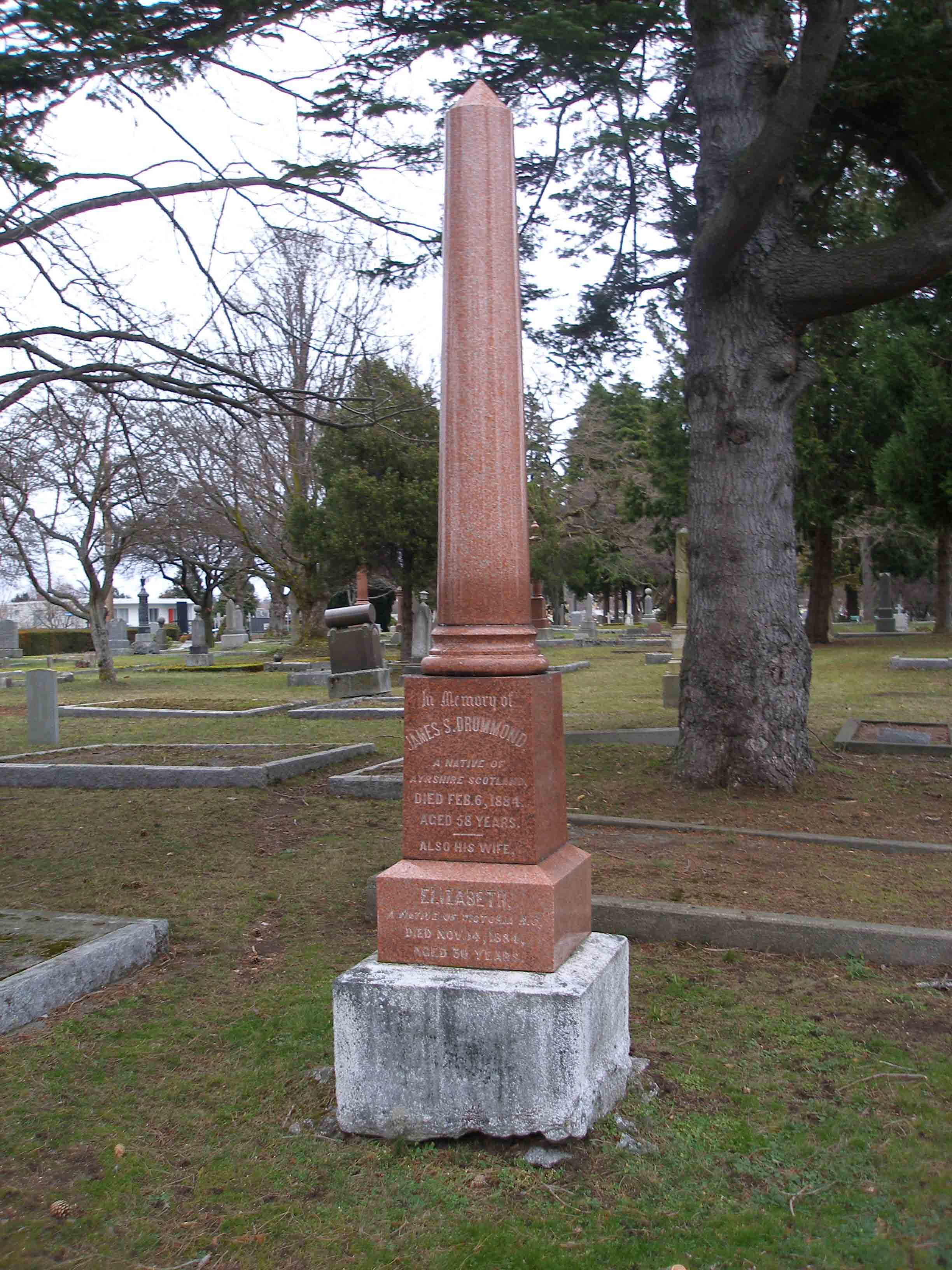 James Smith Drummond tomb, Ross Bay cemetery