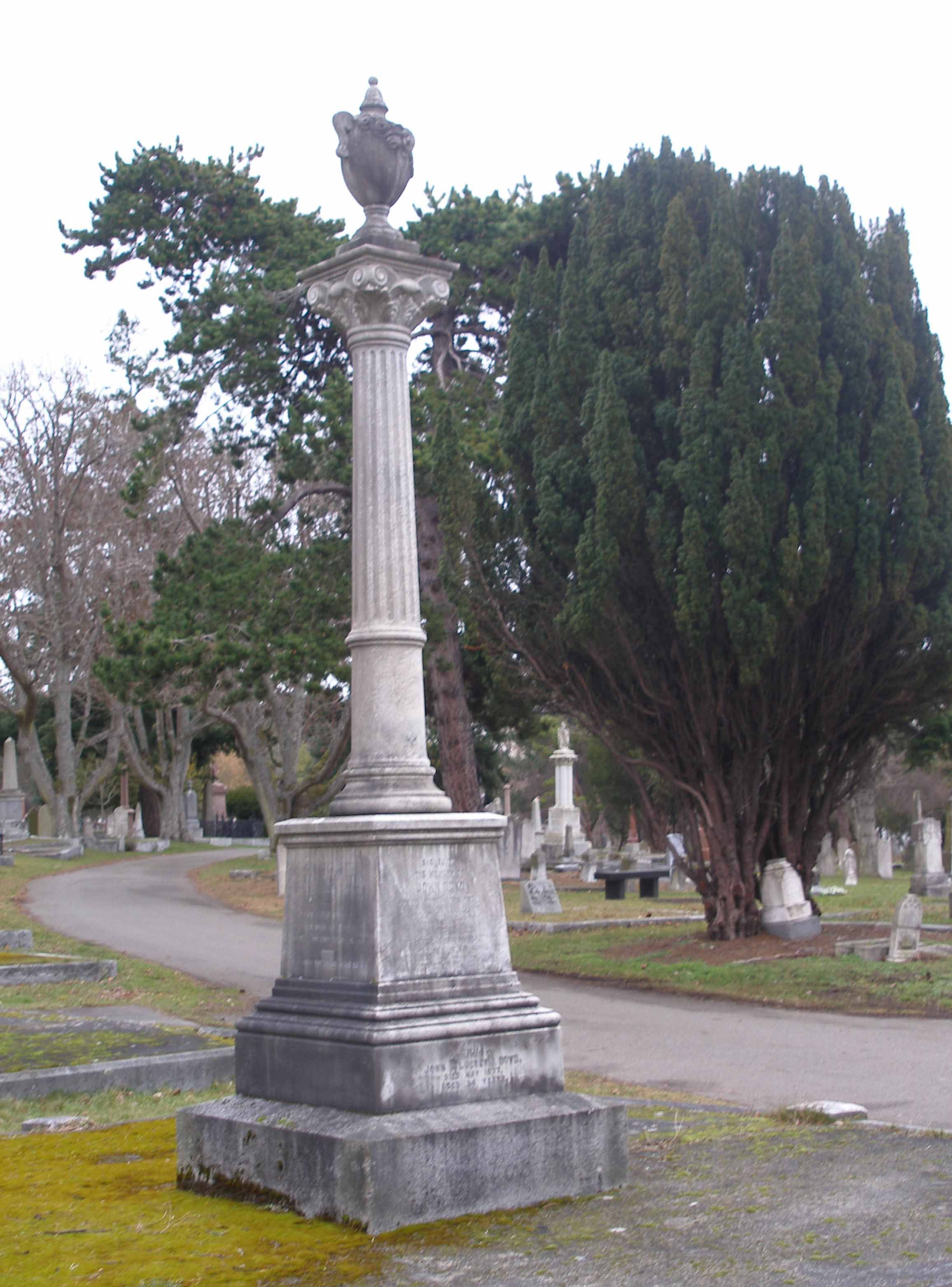 John Boyd tomb, Ross Bay Cemetery
