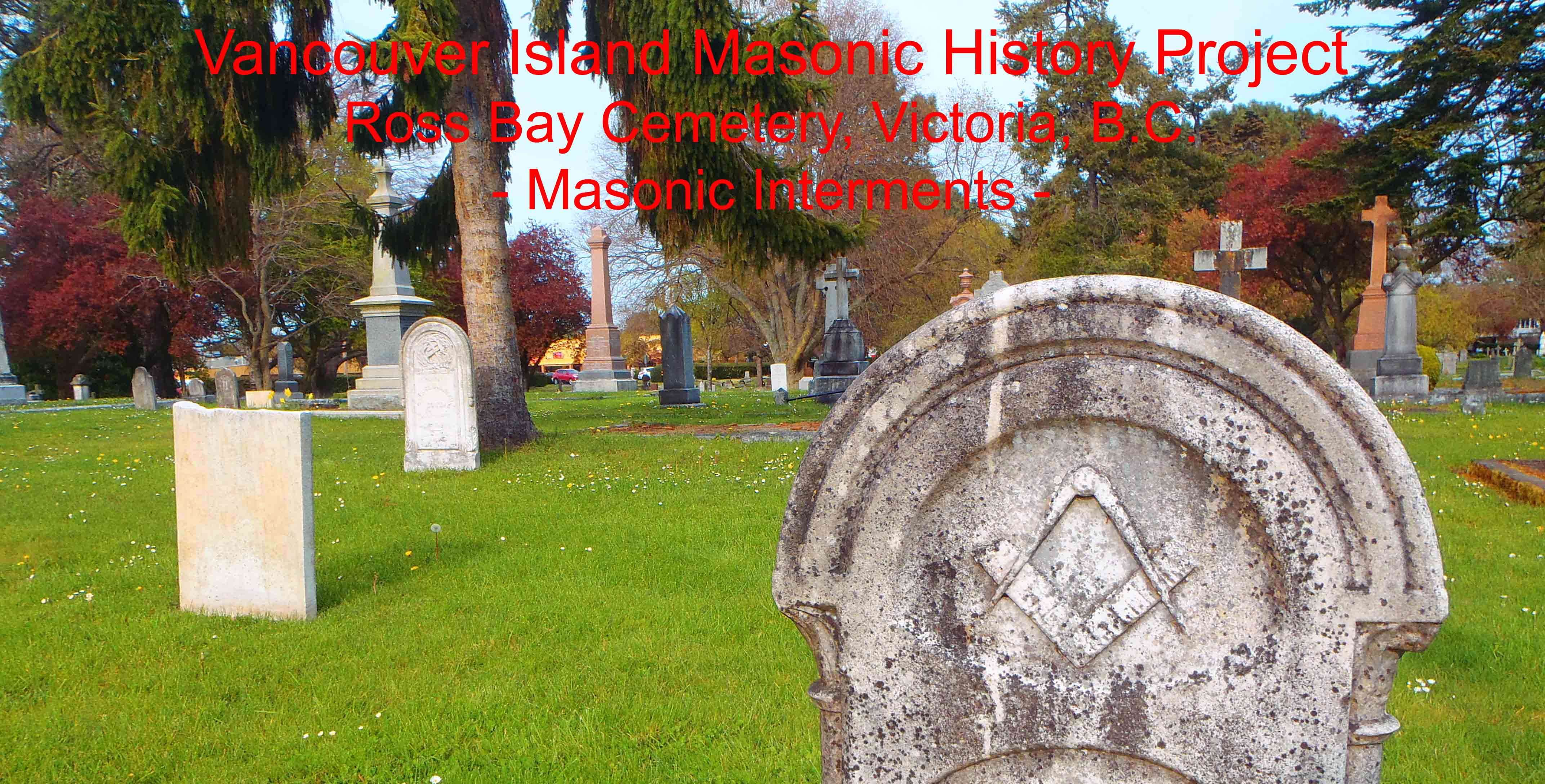 Ross Bay Cemetery Masonic Interments