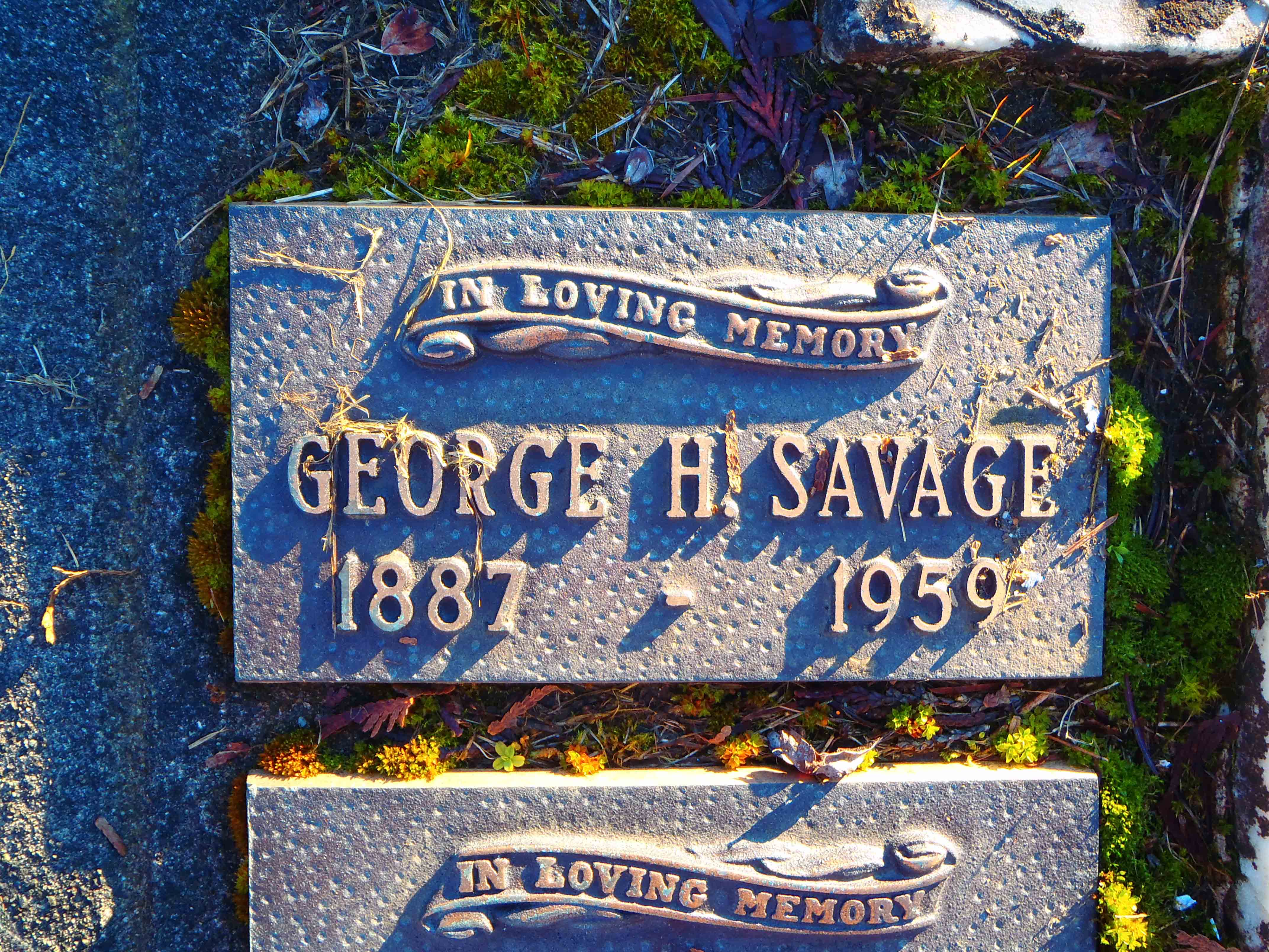 George Henry Savage grave marker, Saint Mary's Somenos