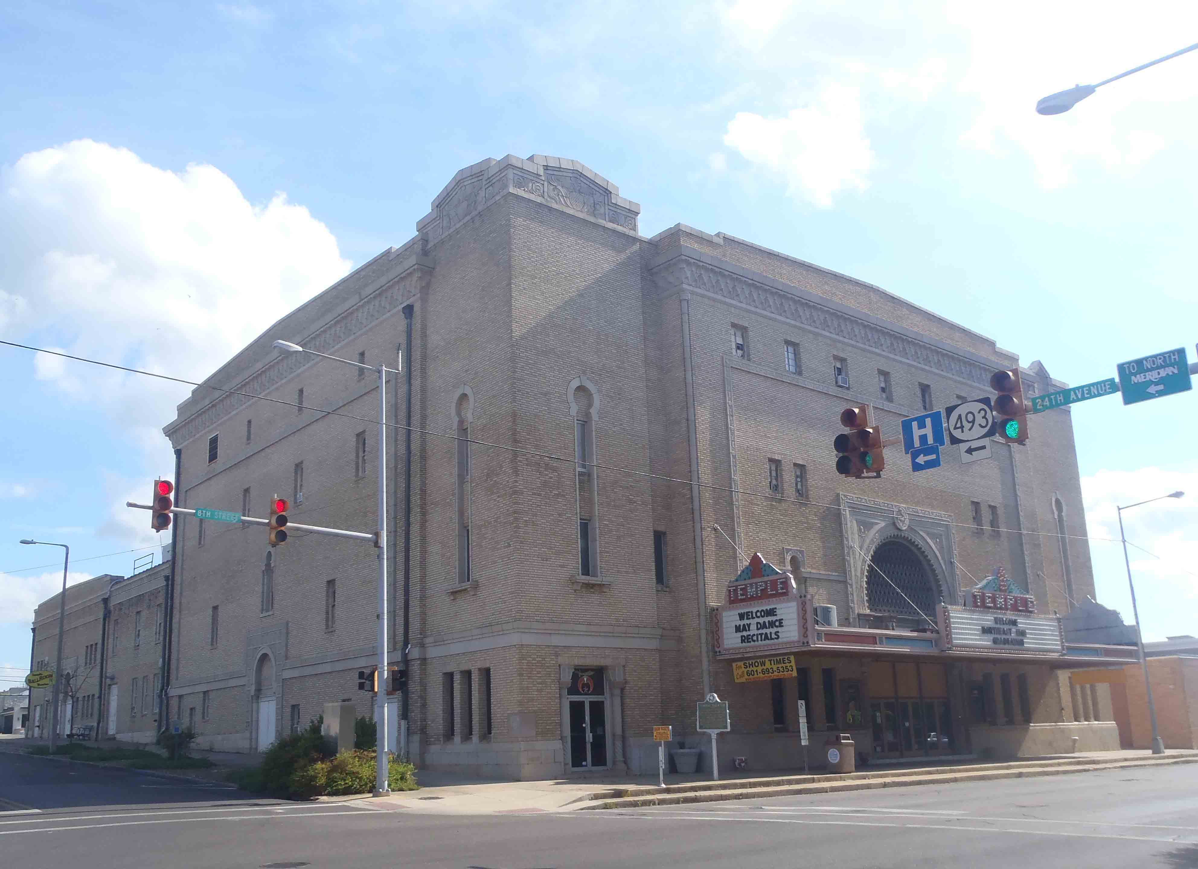 Temple Theater, Meridian, Mississippi. Built between 1923-1927 by Hamasa Shriners