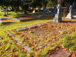 Alfred Lomas grave, St. Peter's Quamichan Anglican cemetery