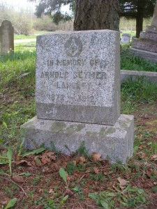 Arnold Langley headstone, St. Peter's Quamichan Anglican cemetery