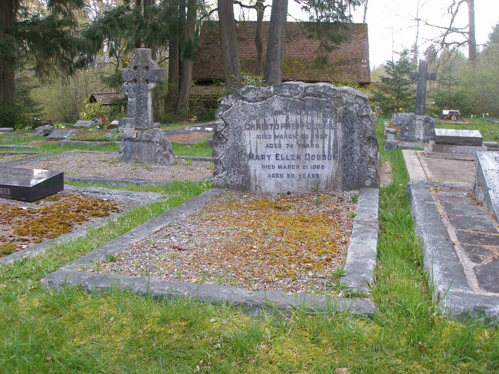 Christopher Dobson grave, St. Peter's Quamichan Anglican cemetery
