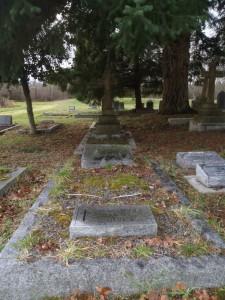 Herbert Naden Clague grave, St. Peter's Quamichan cemetery, Duncan, B.C.