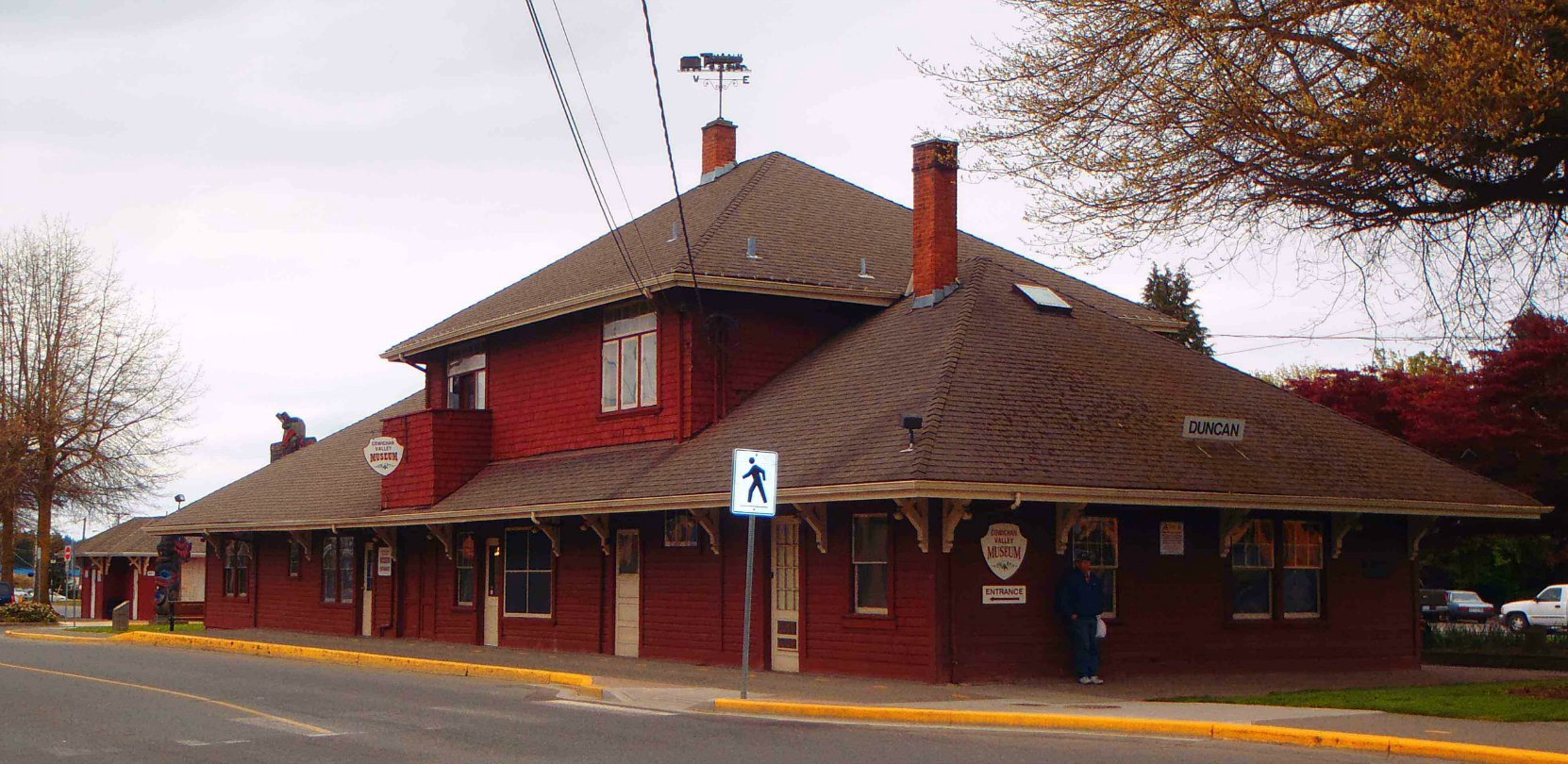 The former E&N Railway Station, Canada Avenue, Duncan, B.C.