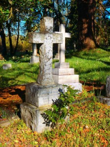 Ernest A. Price grave, St. Peter's Quamichan Anglican cemetery