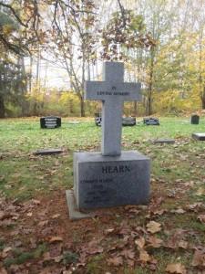 Edward Harry Hearn grave, St. Peter's Quamichan cemetery
