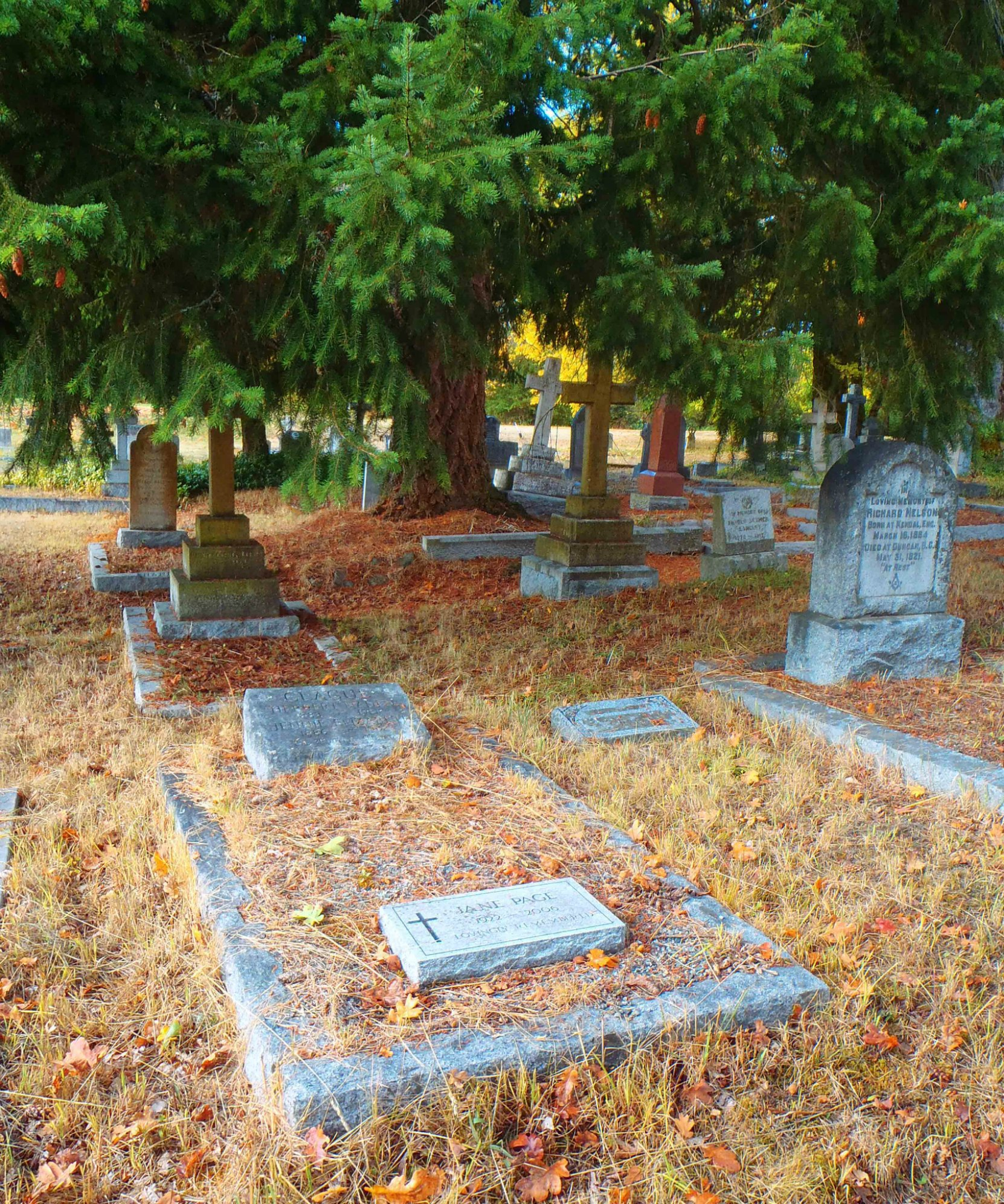 Herbert Naden Clague grave, St. Peter's Quamichan Anglican Cemetery