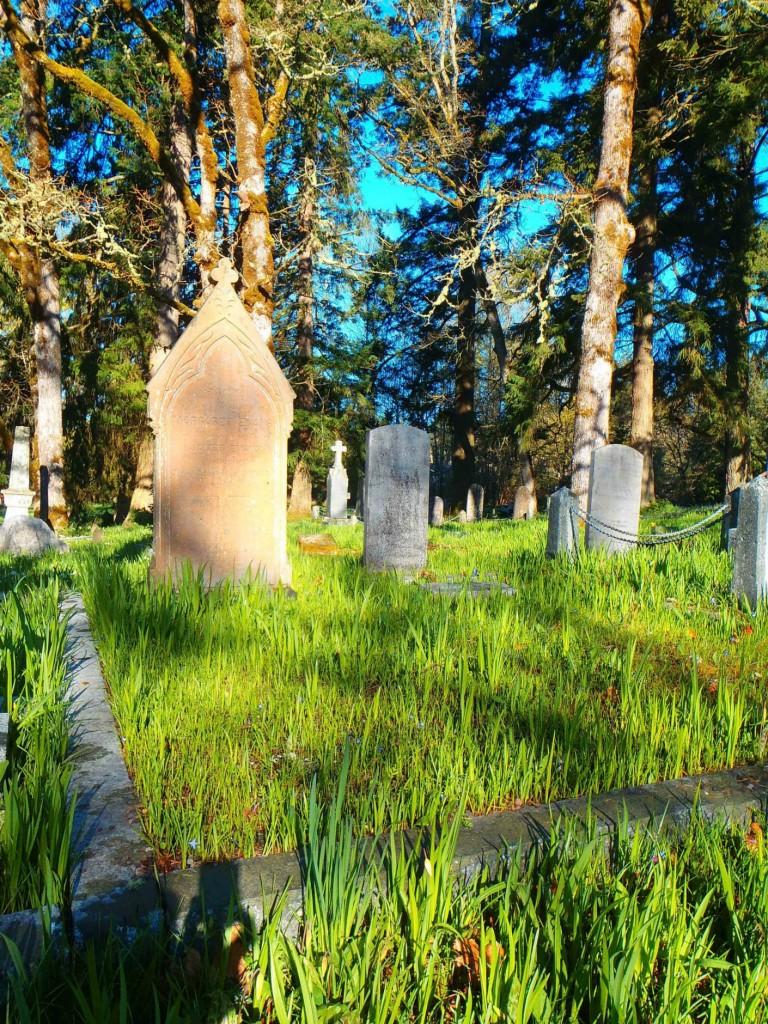 James Evans, family grave, St. Peter's Quamichan cemetery
