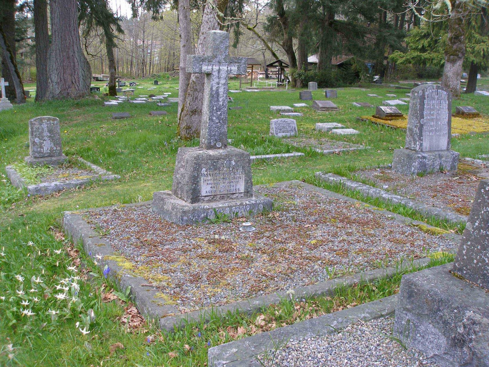 James Grieg grave, St. Peter's Quamichan cemetery