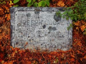 Joseph Coupe Holford, grave marker, St. Peter's Quamichan cemetery