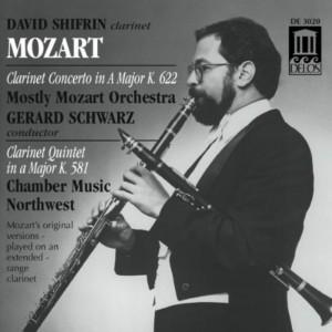 CD cover. Mozart Clarinet Concerto, David Shifrin, Delos Records