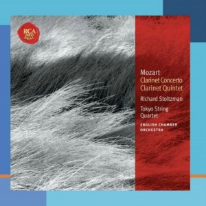 CD cover. Mozart Clarinet Concerto, Richard Stoltzman, RCA Records