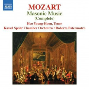 CD cover. Mozart Masonic Musico, Kassel Spohr Chamber Orchestra, Naxos Records