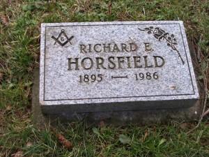 Richard Horsfield grave marker, St. Peter's Quamichan cemetery