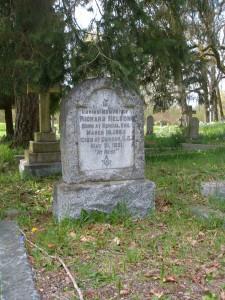 Richard Nelson grave, St. Peter's Quamichan cemetery