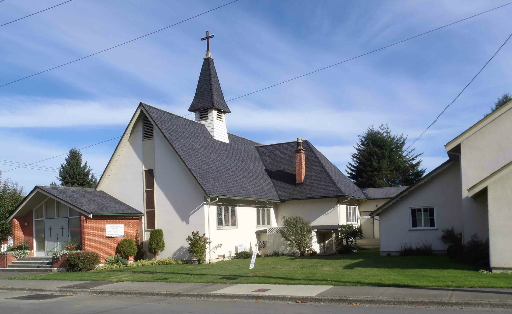 St. John's Anglican Church, Jubilee Street, Duncan, B.C. Dedicated in 1905 by the Grand Master of B.C.