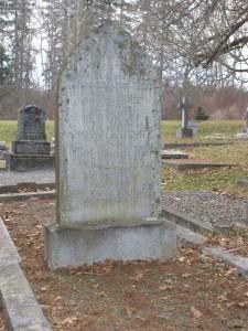 Thomas Ethelbert Tombs, grave, St. Peter's Quamichan cemetery