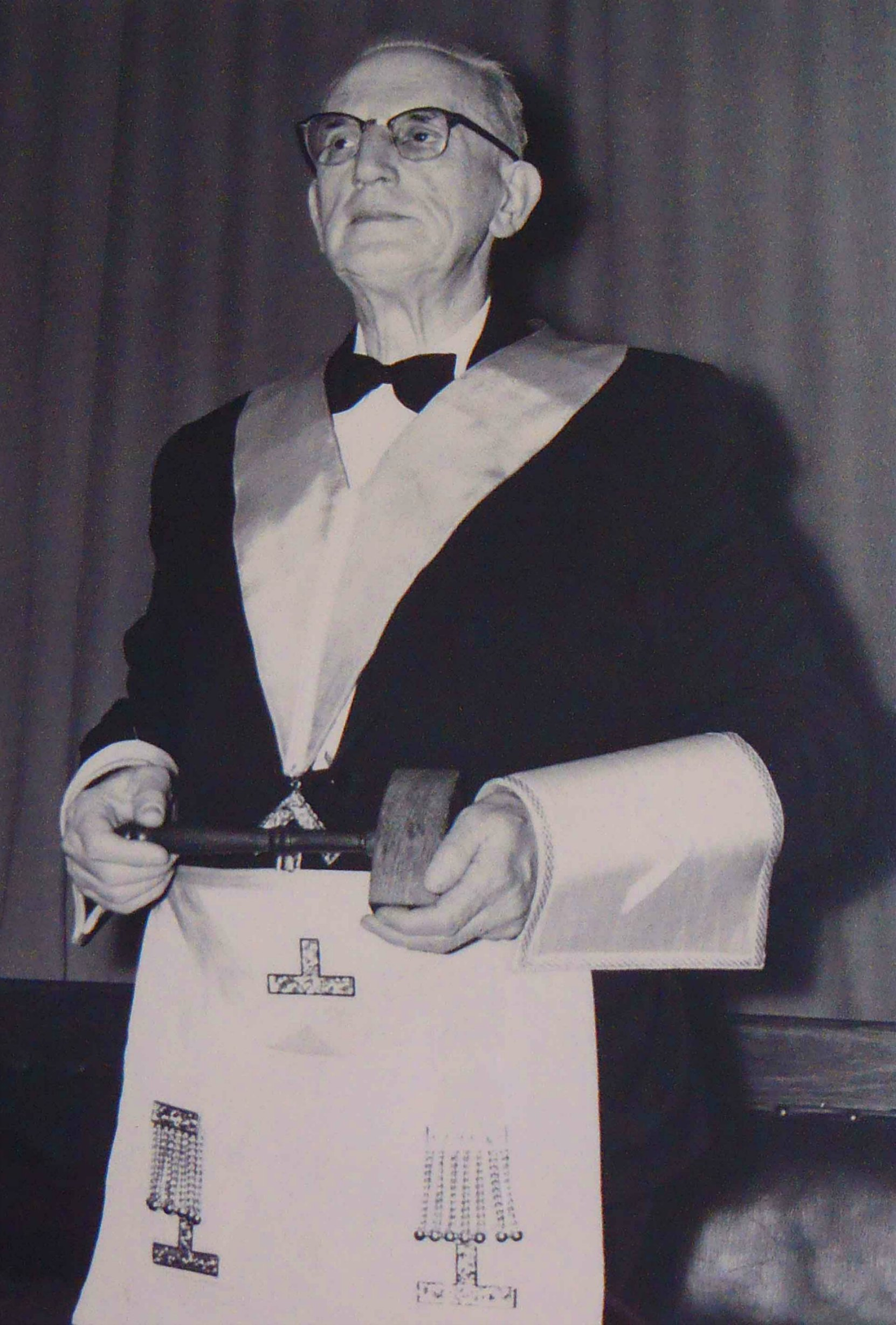 William Bruce Powel in Masonic regalia, circa 1958