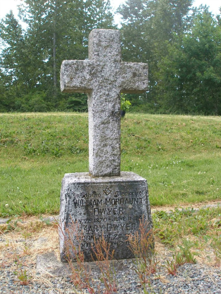 William Mordaunt Dwyer, grave, St. Peter's Quamichan cemetery