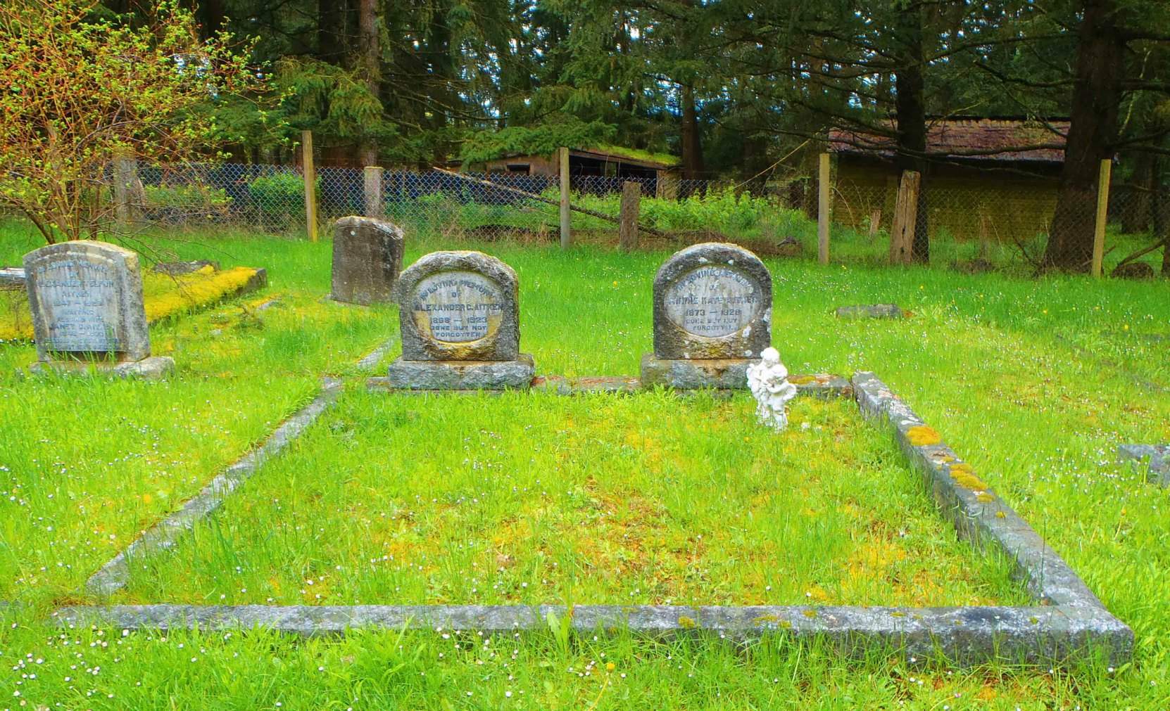Alexander Chalmers Aitken family grave, Pioneer Cemetery, North Cowichan