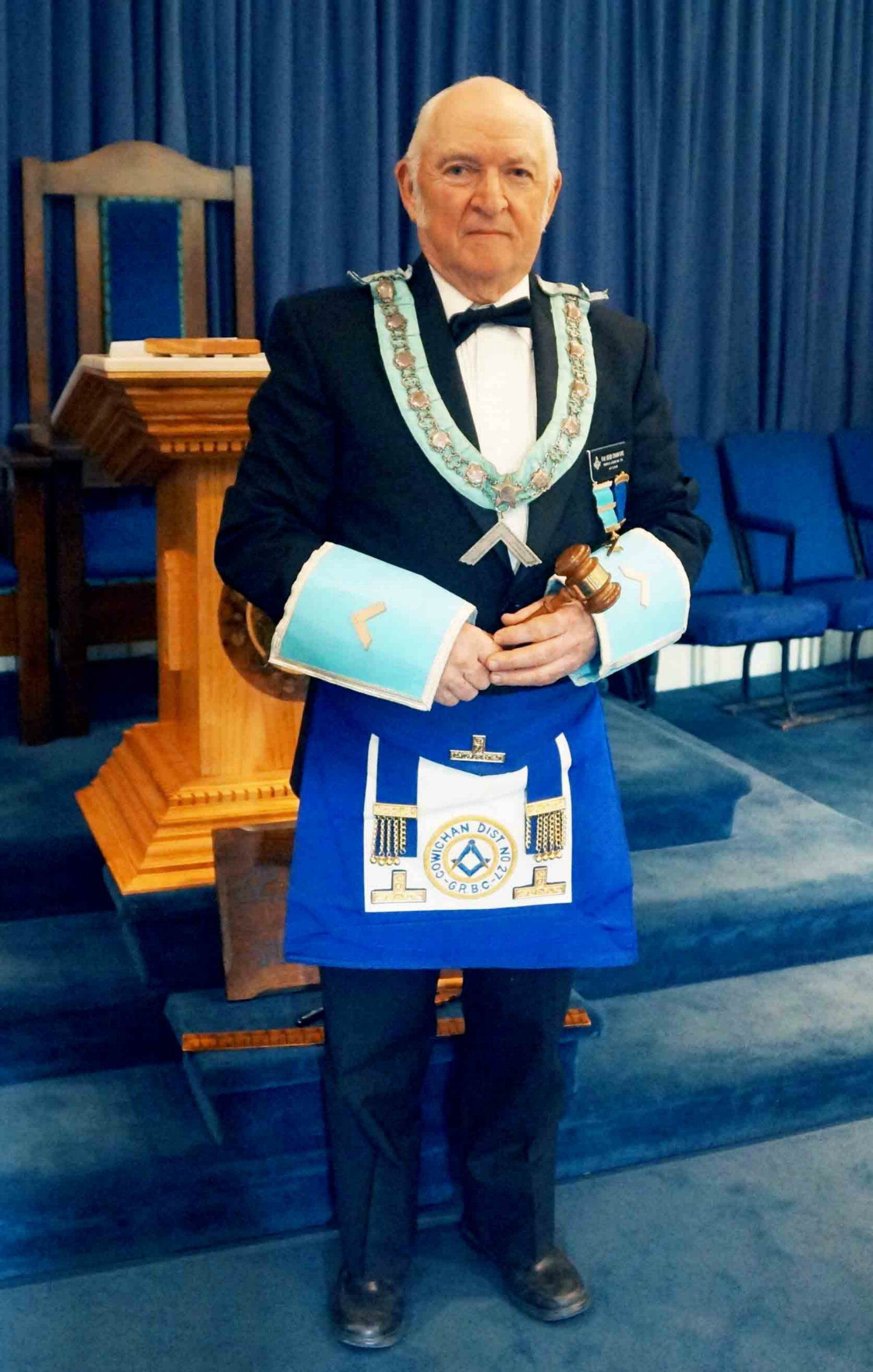 R.W.B. Bob Crawford, Worshipful Master of Temple Lodge, No.33, April 2015 to April 2016