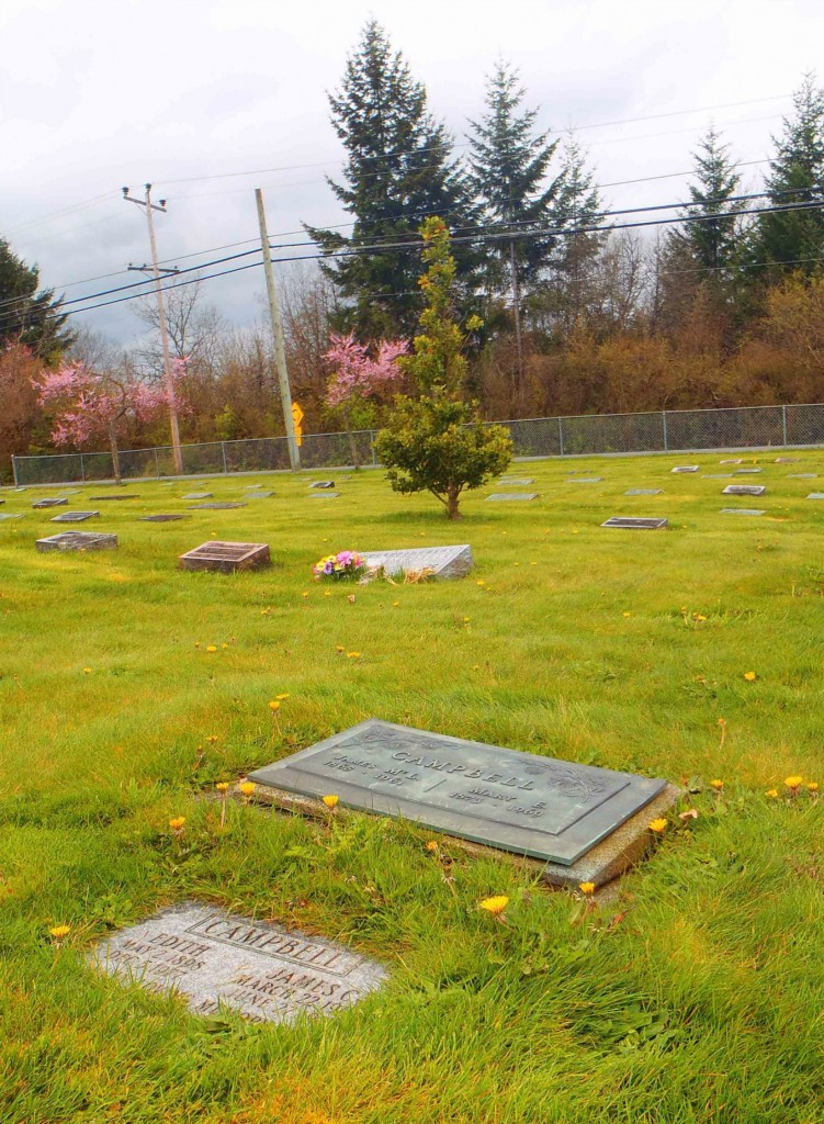 James McLeod Campbell grave, Mountain View Cemetery, North Cowichan