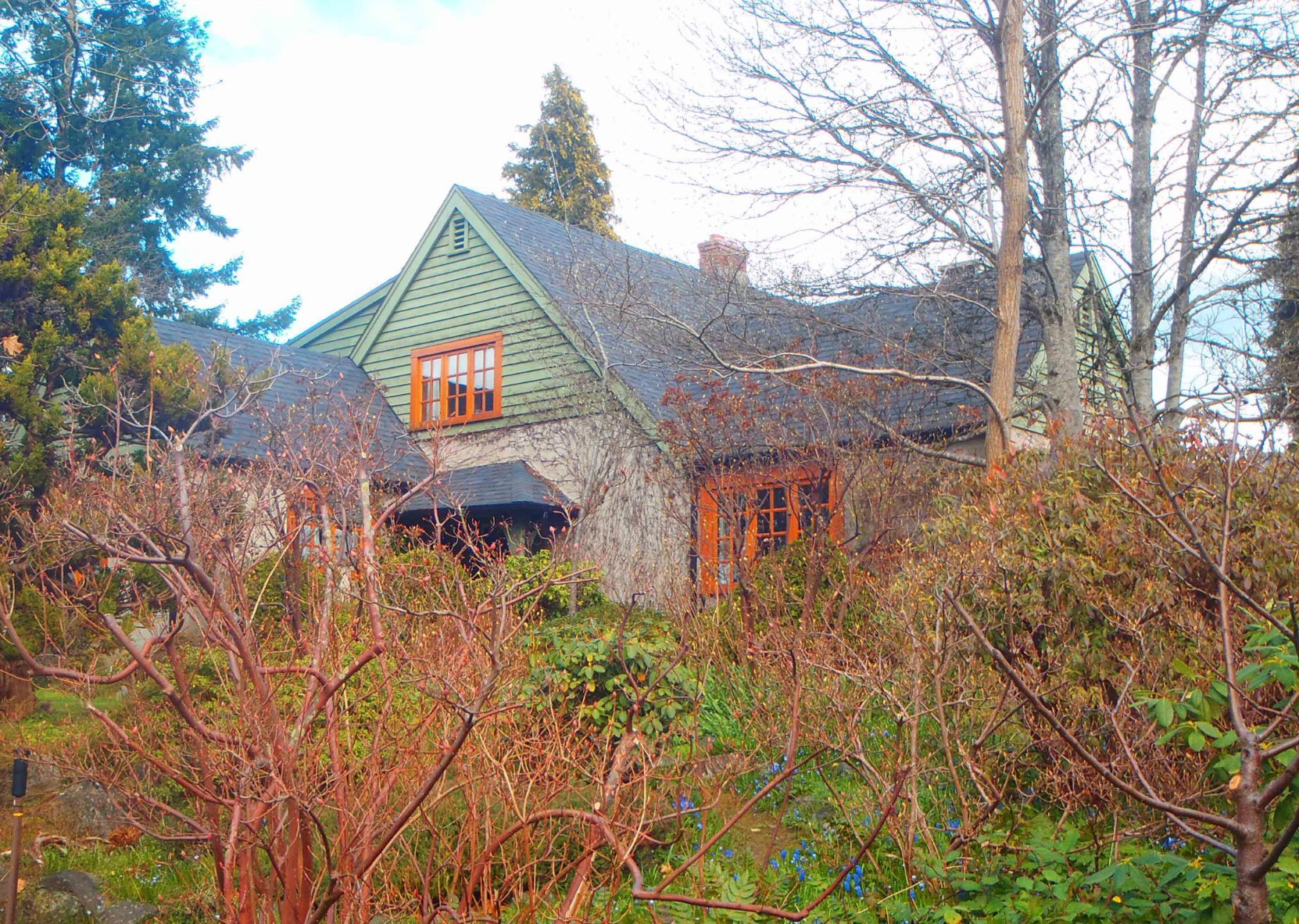 Claude Green built this house on Grieve Road, North Cowichan for his family.