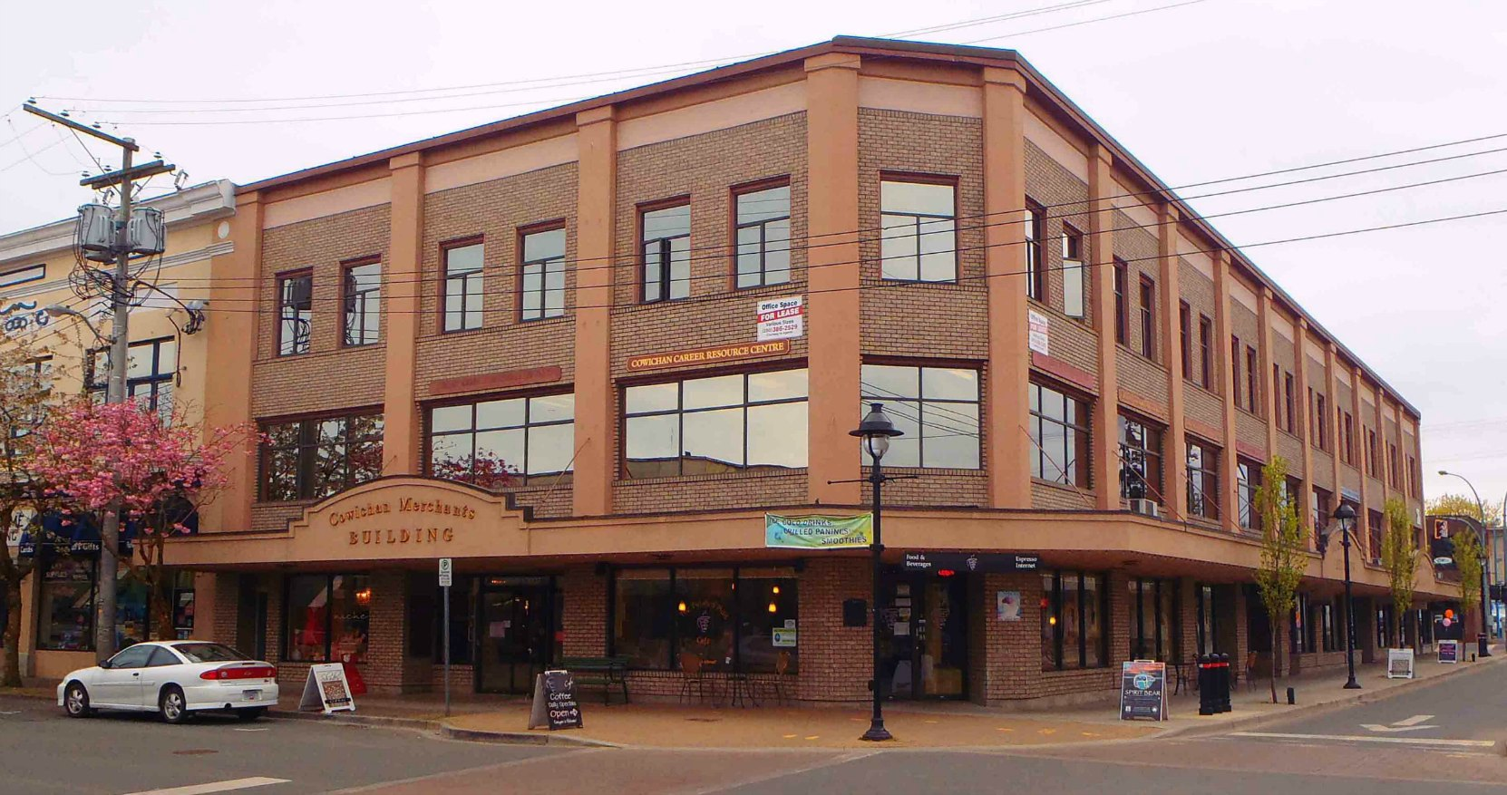 Cowichan Merchants Building in downtown Duncan. Thomas Pitt and Andrew H. Peterson were among the three partners who built this landmark building in 1912.