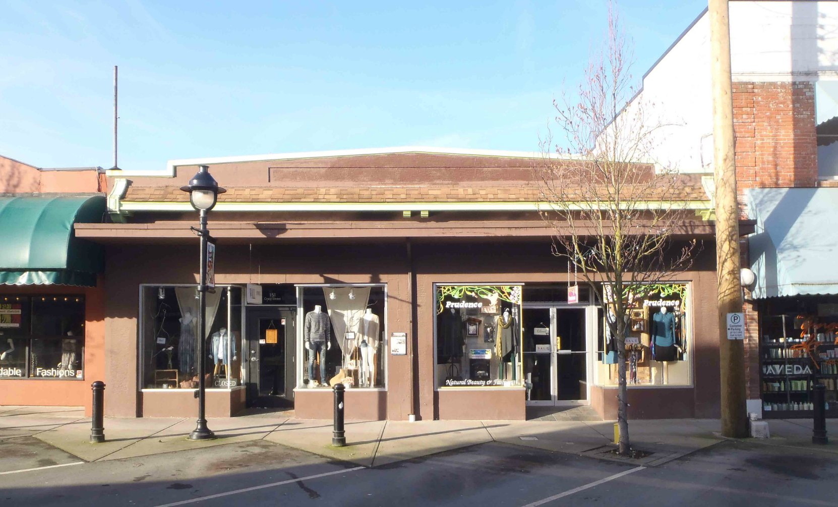 151-155 Craig Street is now two retail stores but it was built in 1929 by architect Douglas james for Hugh George Savage's Cowichan Leader newspaper.