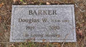 Douglas Barker grave marker, St. Mary's Somenos Anglican Cemetery