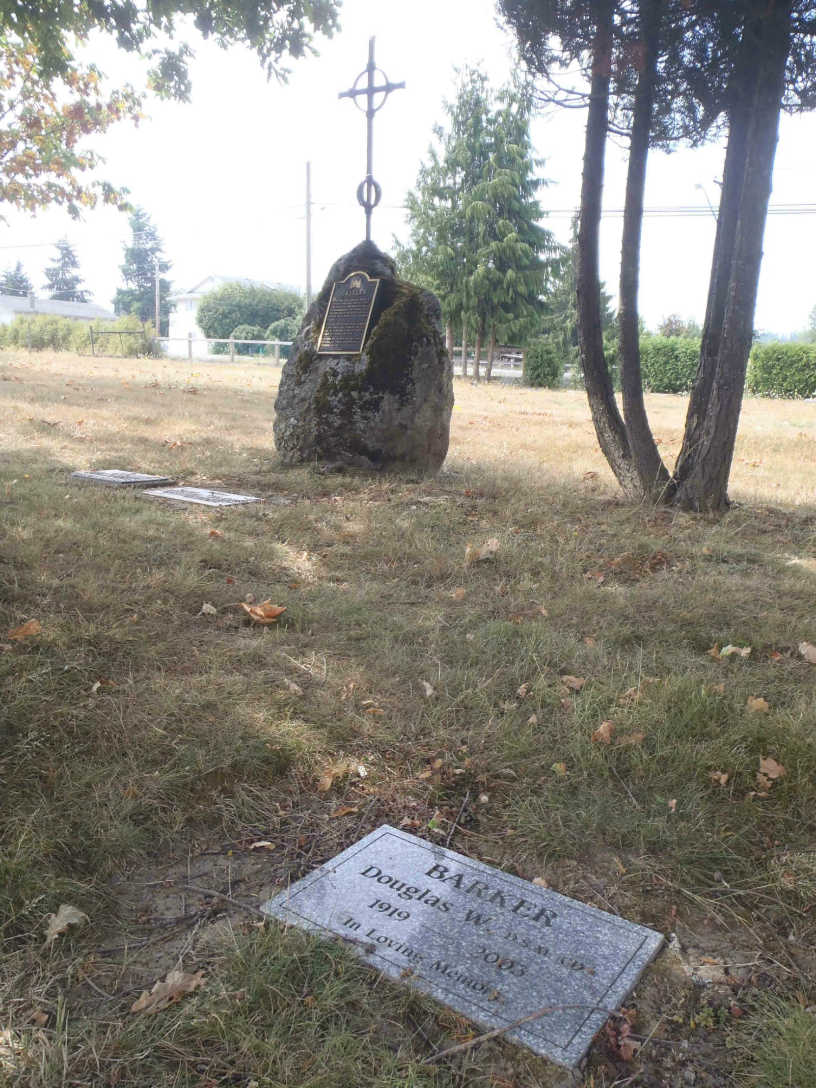 Douglas Barker grave, St. Mary's Somenos Anglican cemetery, North Cowichan.