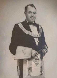 Douglas Halliday as Worshipful Master of Temple Lodge