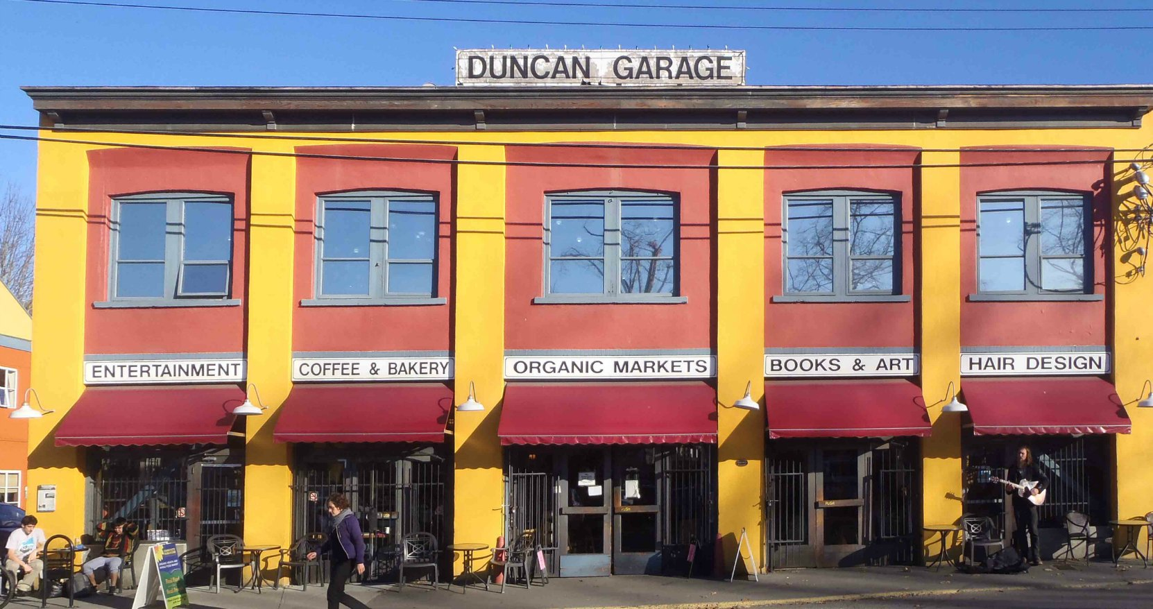 Duncan Garage, built in 1913 by Temple Lodge No.33 members Norman T. Corfield and John F. Corfield.