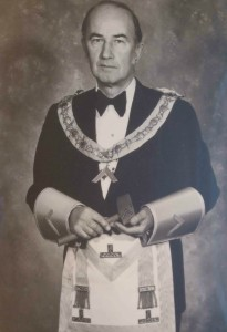 Gordon Allester as Worshipful Master of Temple Lodge