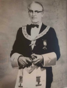 Gordon Maurice Berry as Worshipful Master of Temple Lodge