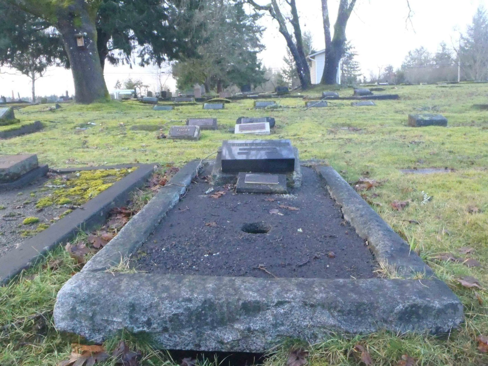 Herbert William Dickie, grave, Mountain View cemetery, North Cowichan
