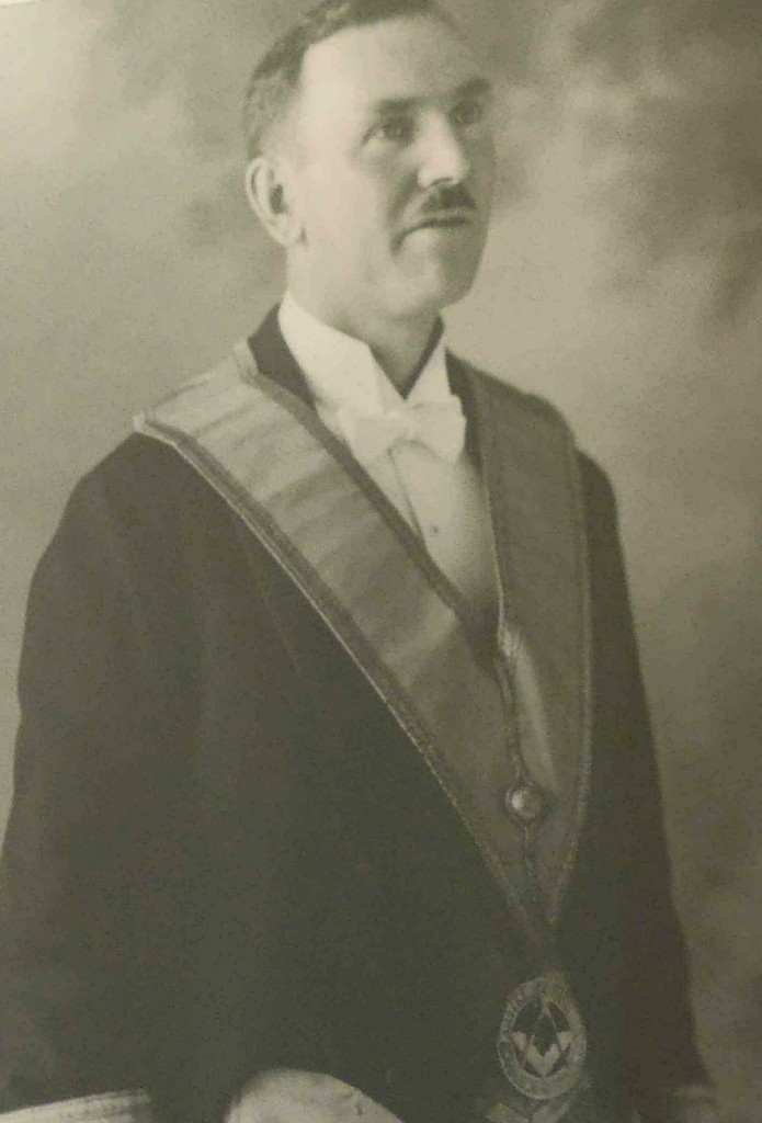 Hugh George Savage in Masonic regalia, circa 1932.