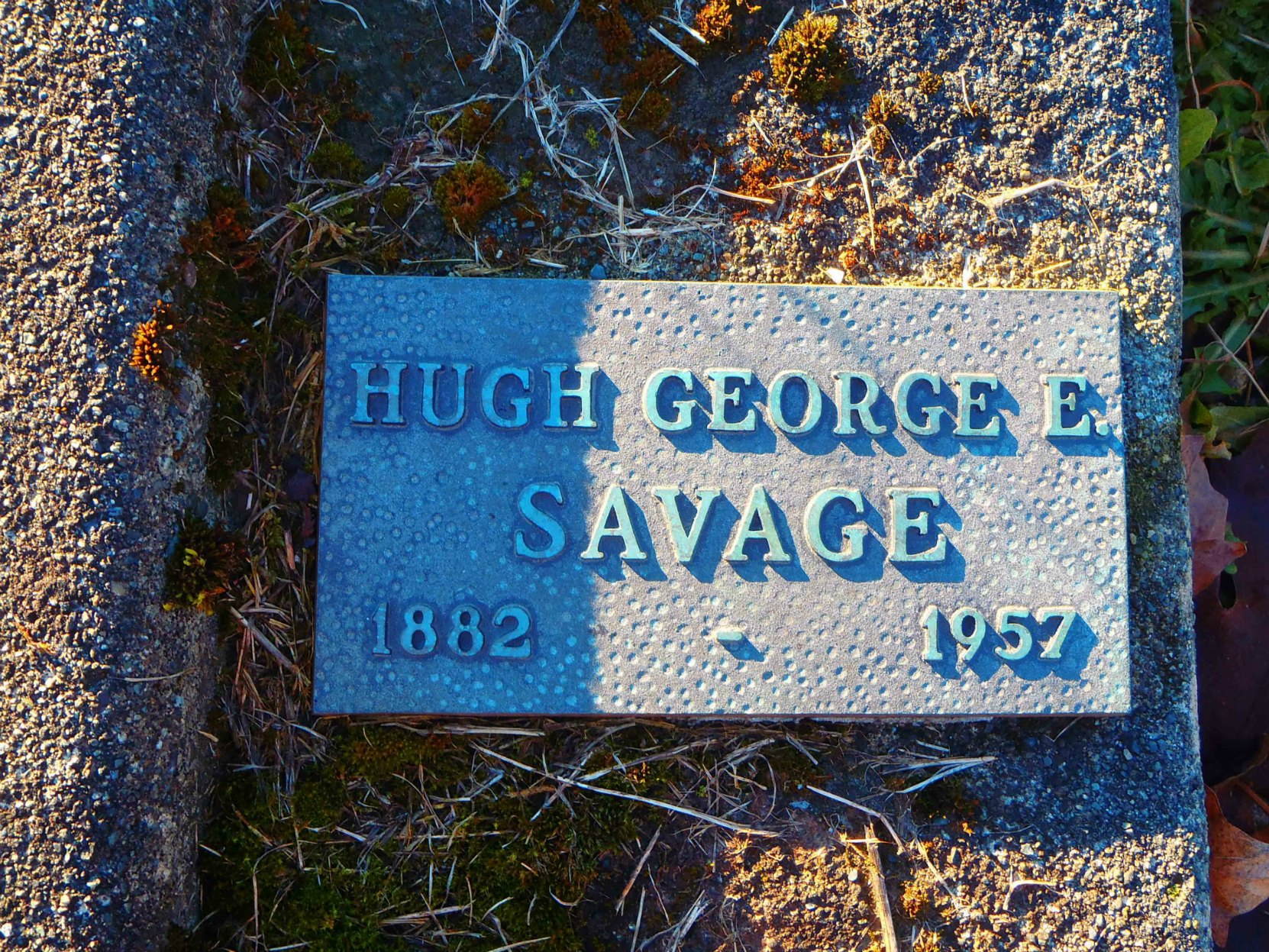 Hugh George Savage grave marker, St. Mary's Somenos Anglican cemetery