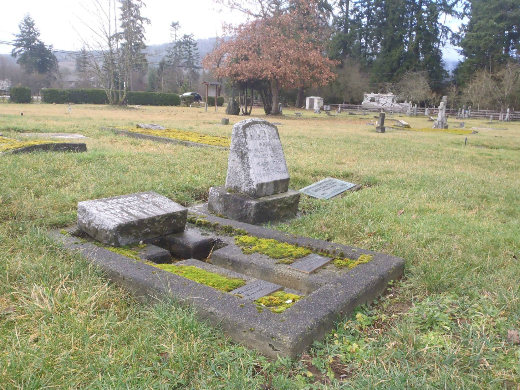 Hugh George Savage, family grave, St. Mary's Somenos Anglican Cemetery, North Cowichan, B.C.