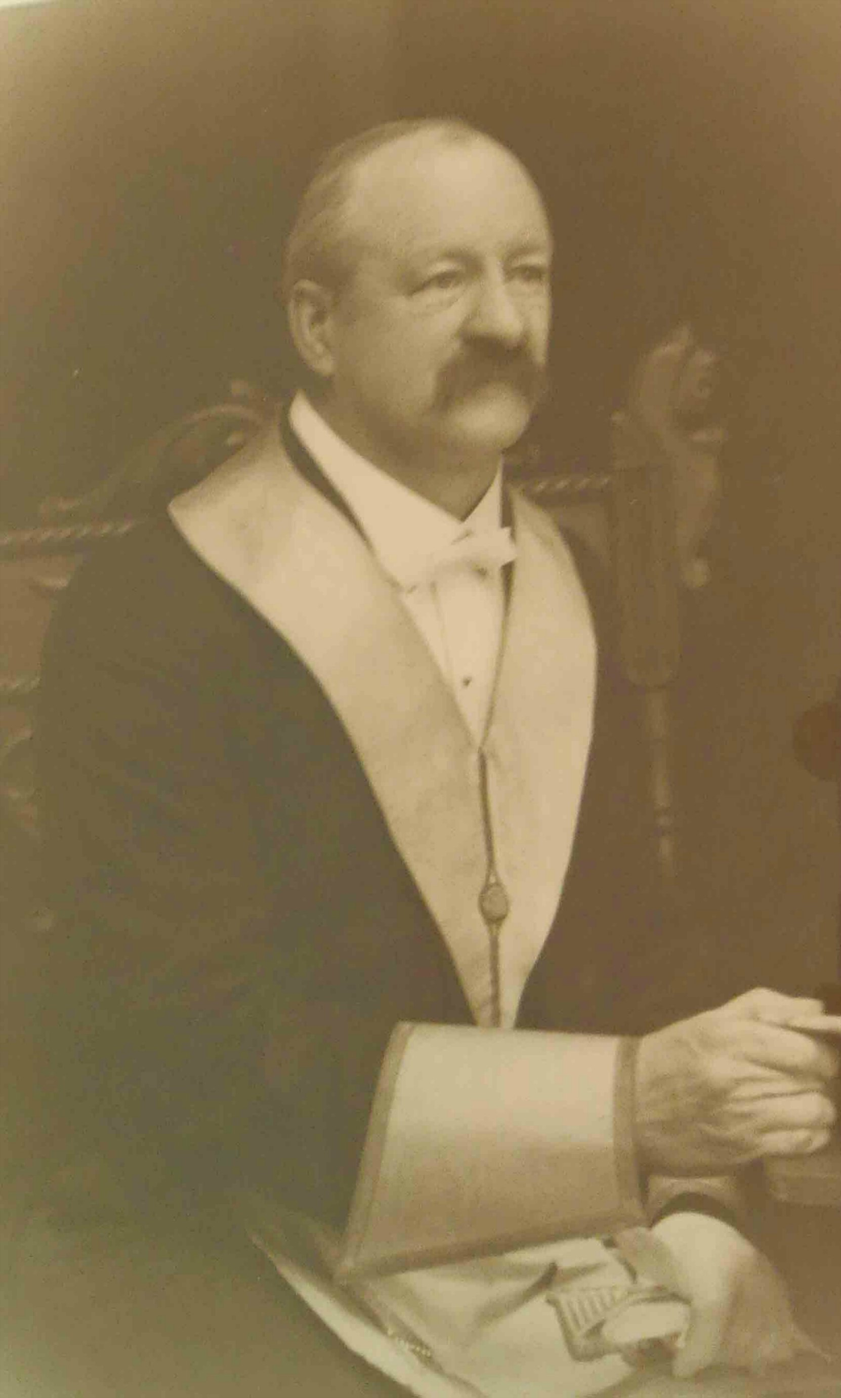 Roland Clayton Fawcett as Worshipful Master of Temple Lodge, No.33 in 1915