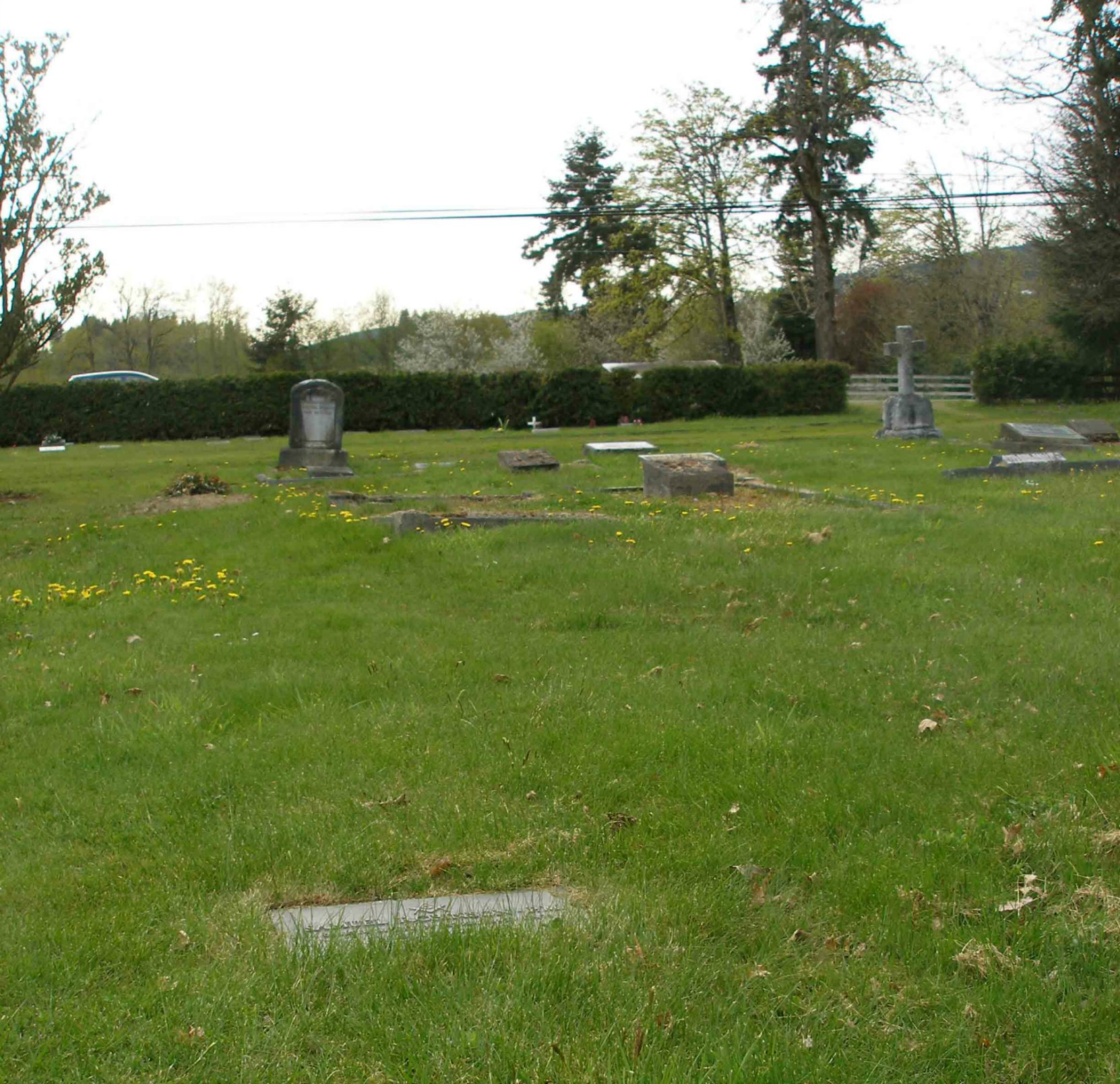 Samuel Robinson grave, St. Mary's Somenos Anglican Cemetery, North Cowichan, B.C.