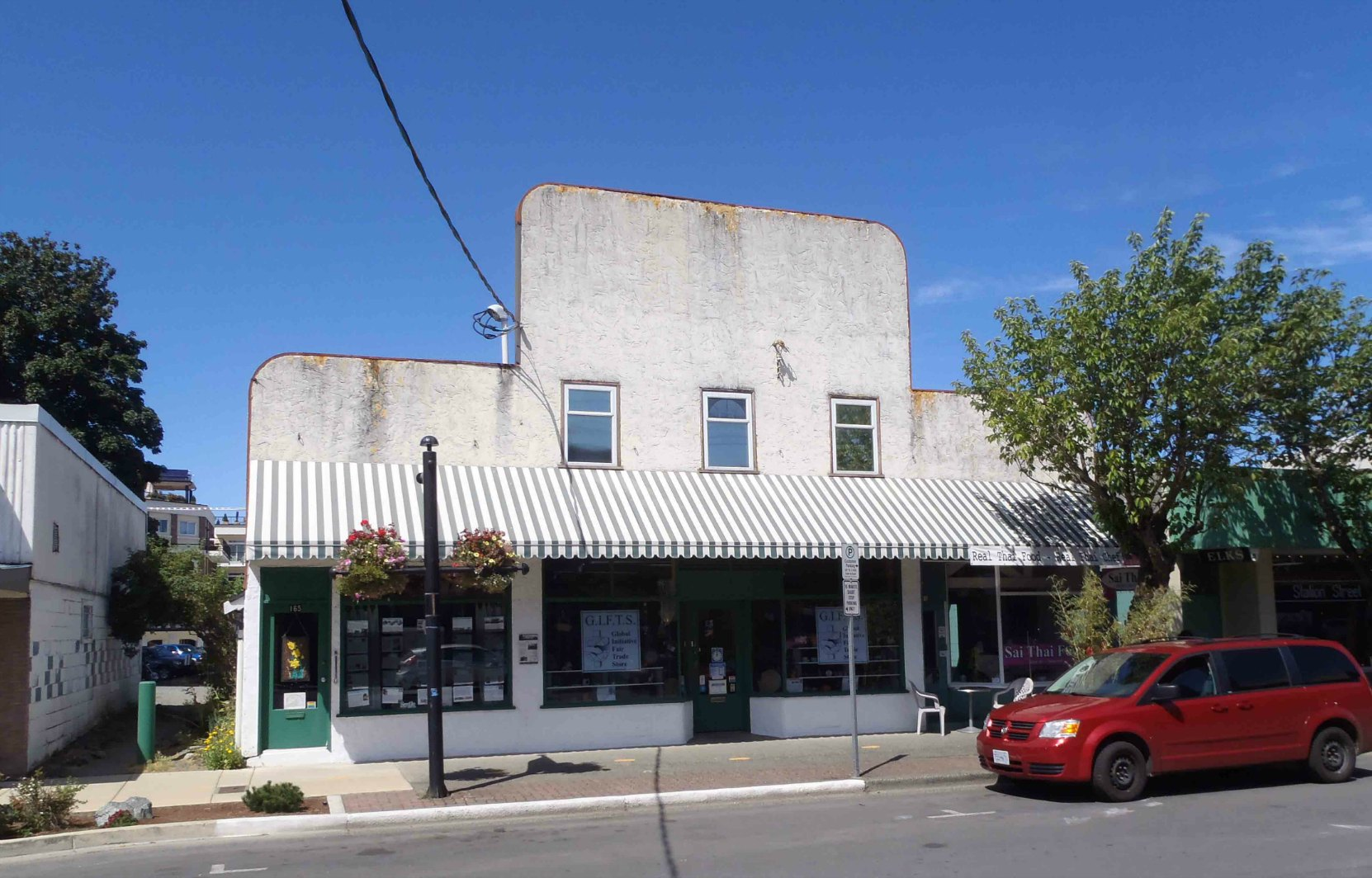 161-165 Station Street in downtown Duncan. The storefront at 165 Station Street (on the left of the photo) was occupied by Kyle's Taxi from the 1920s to the 1950s.