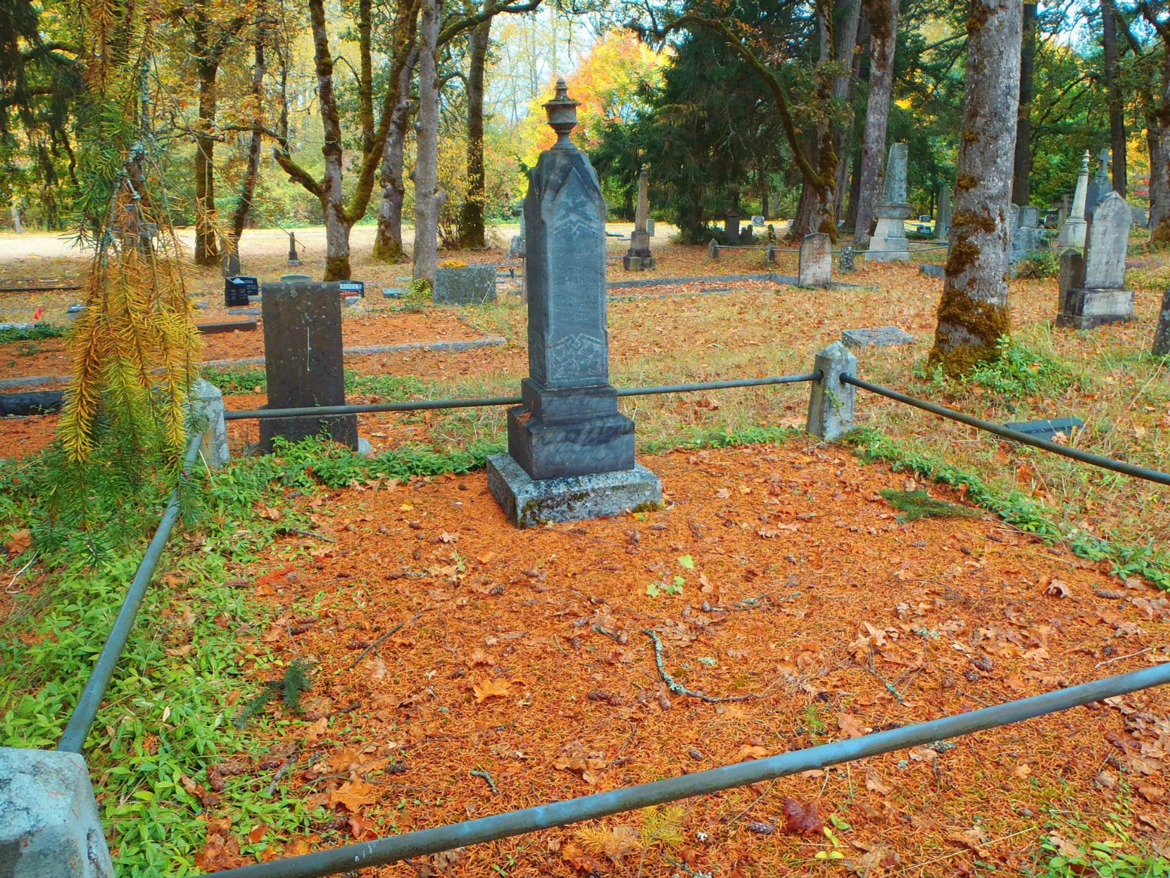 Thomas Anthony Wood grave, St. Peter's Quamichan Anglican cemetery, North Cowichan