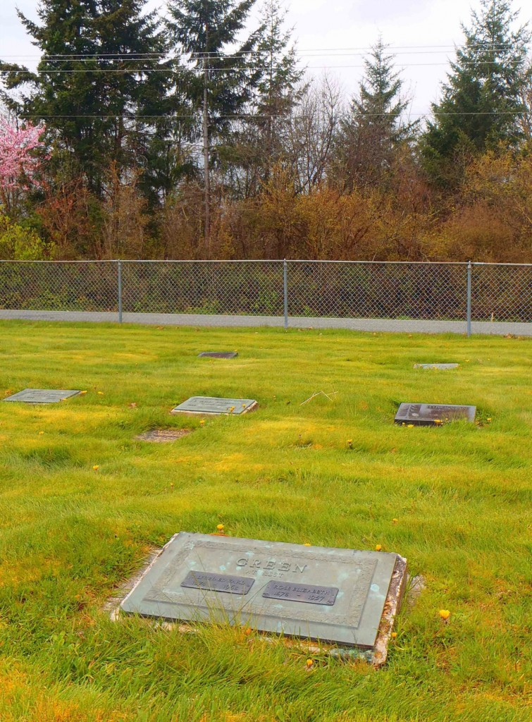 Albert Edward Green grave, Mountain View Cemetery, North Cowichan