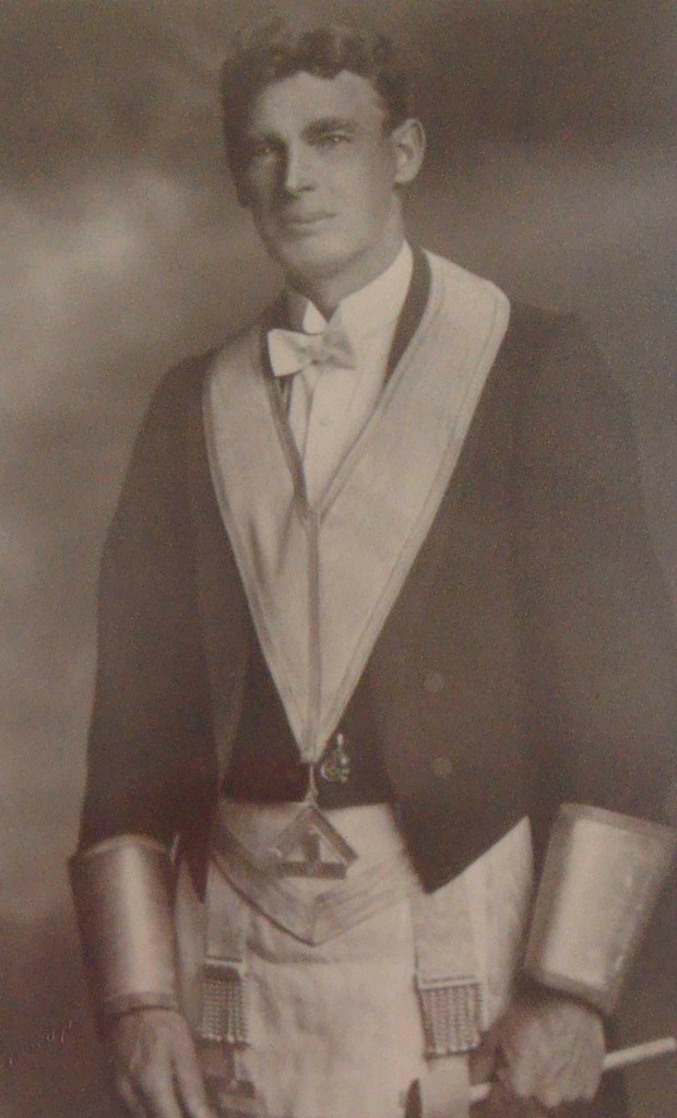 Alfred Edward Green as Worshipful Master of Temple Lodge, No.33 in 1927