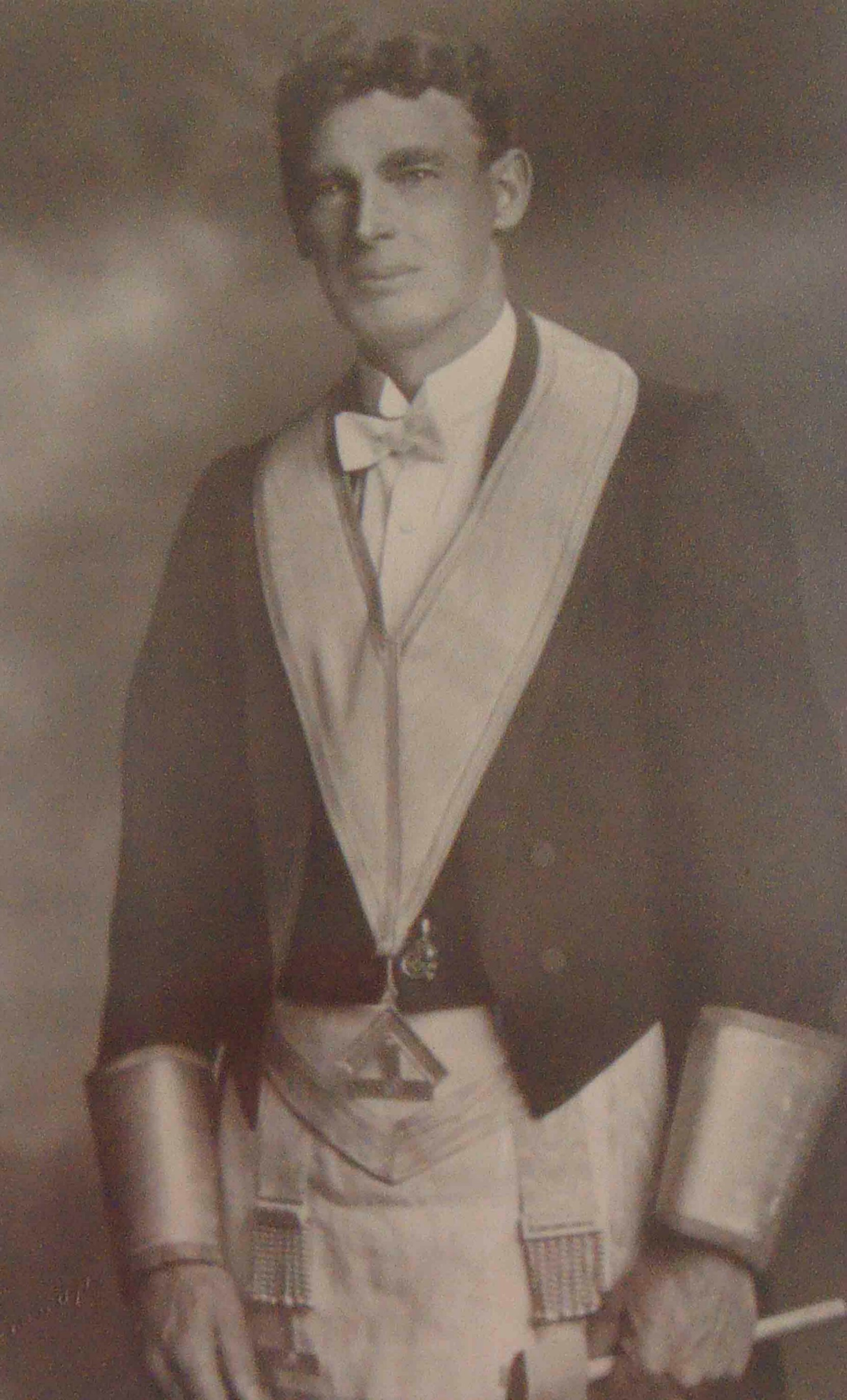 Albert Edward Green as Worshipful Master of Temple Lodge, No.33 in 1927