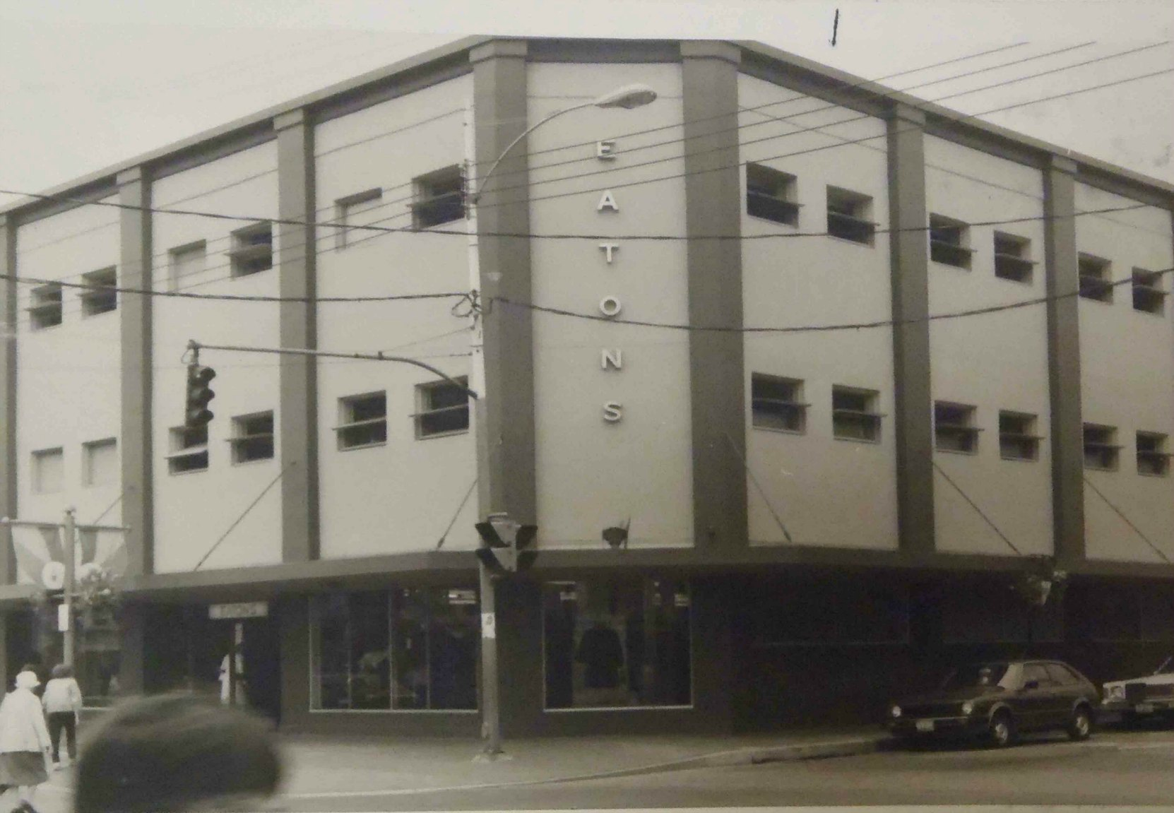 The Cowichan Merchants Building as an Eatons department store, circa 1983