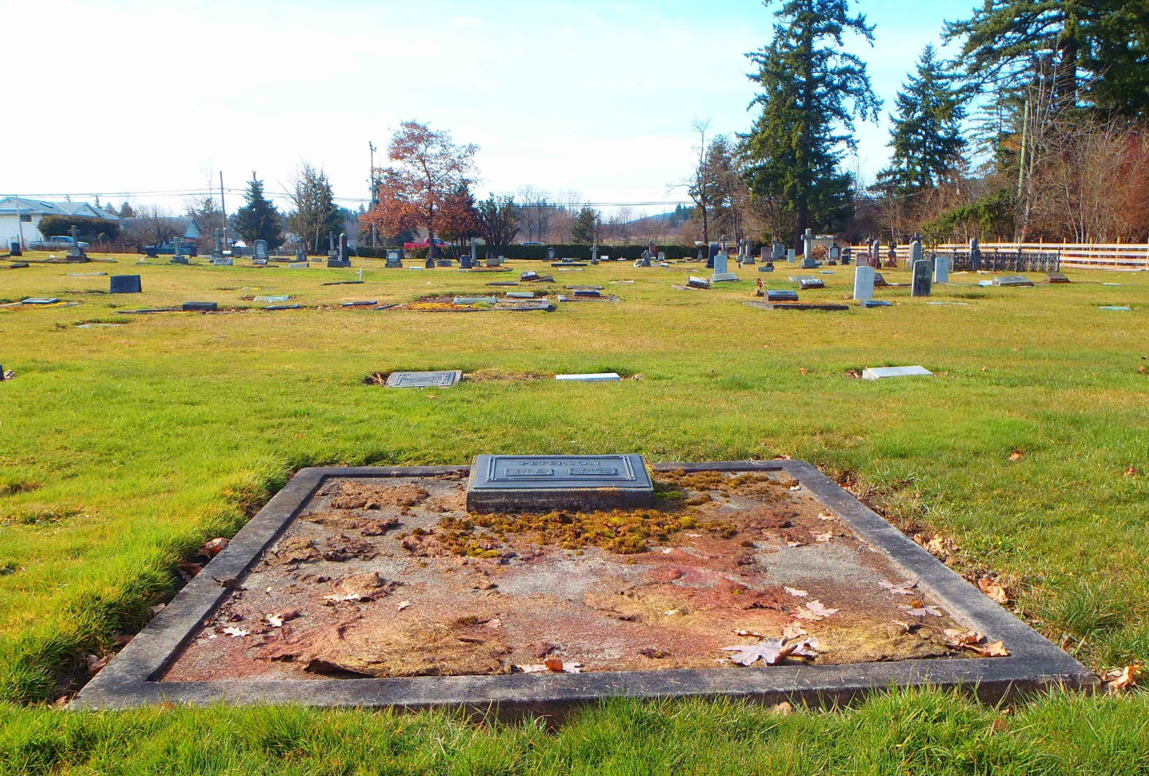 Eide Henry Peterson grave, St. Mary's Somenos Anglican Cemetery, North Cowichan